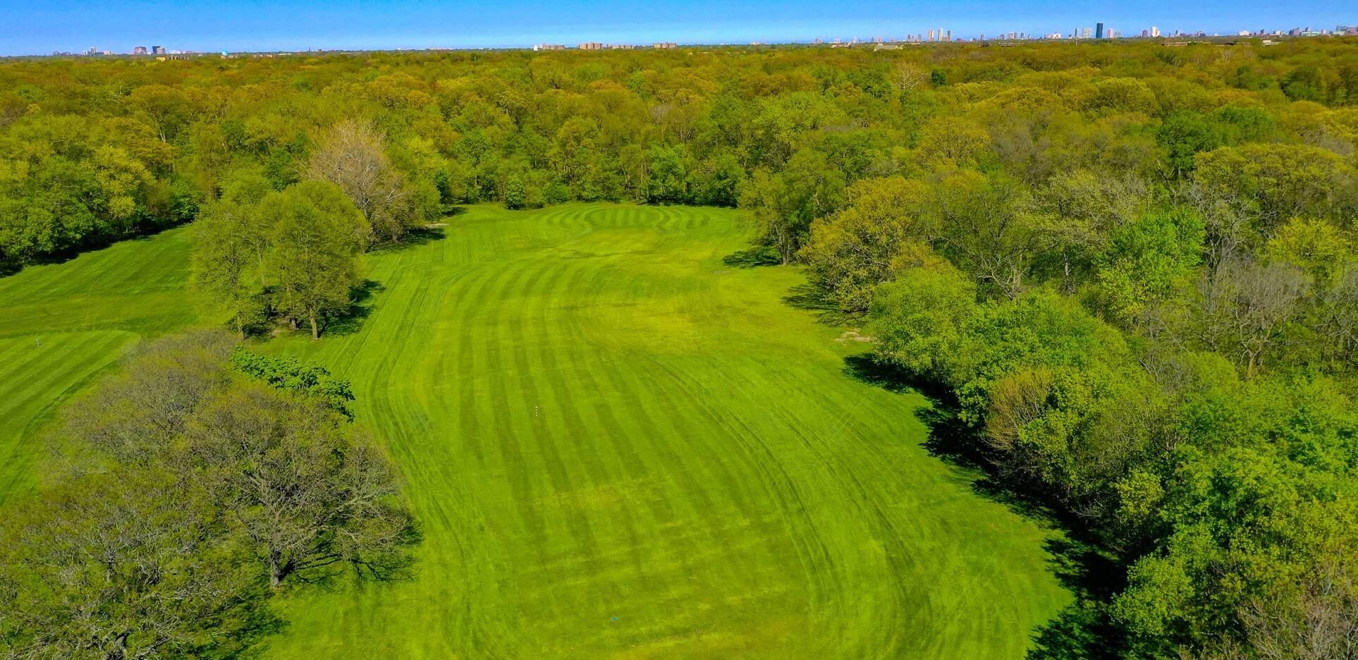 Edgebrook Golf Course Drone Photography Overhead Golf Course