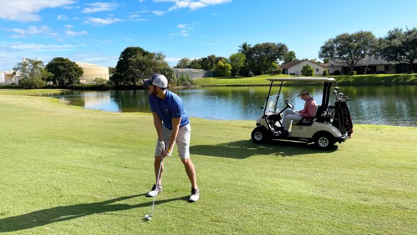 golfers at Colony West Golf Club in Tamarac, Florida