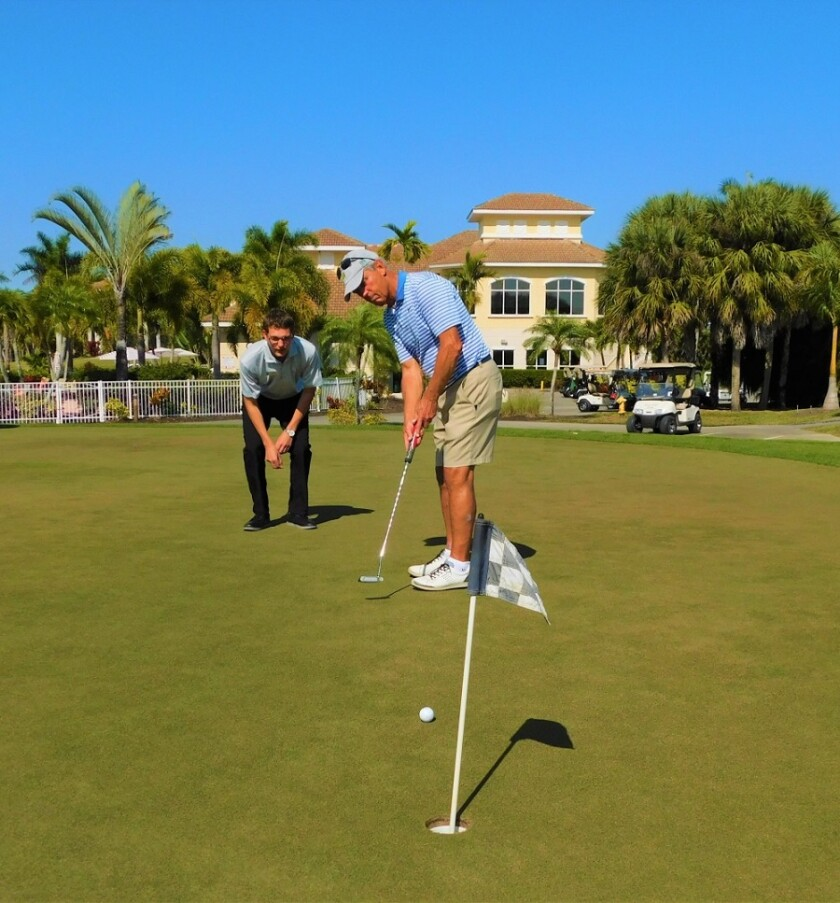 professional golf lessons at Spanish Wells Golf and Country Club in Bonita Springs, FL
