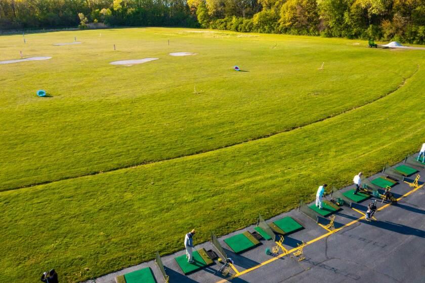 Harry Semrow Driving Range Overhead Mats Drone Photography