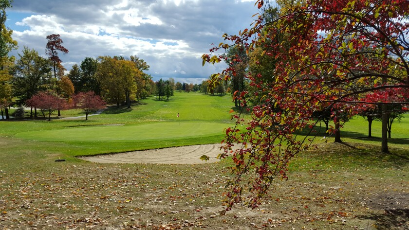Fall Trees on Raintree Golf Course in Uniontown, Ohio