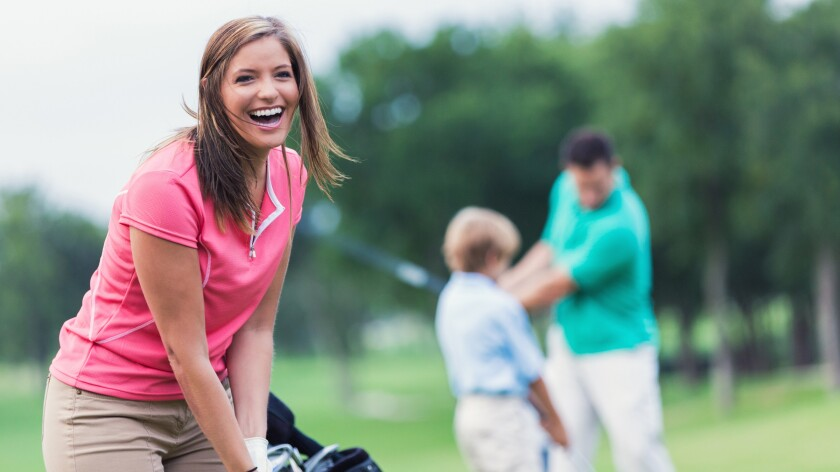 woman on the golf course