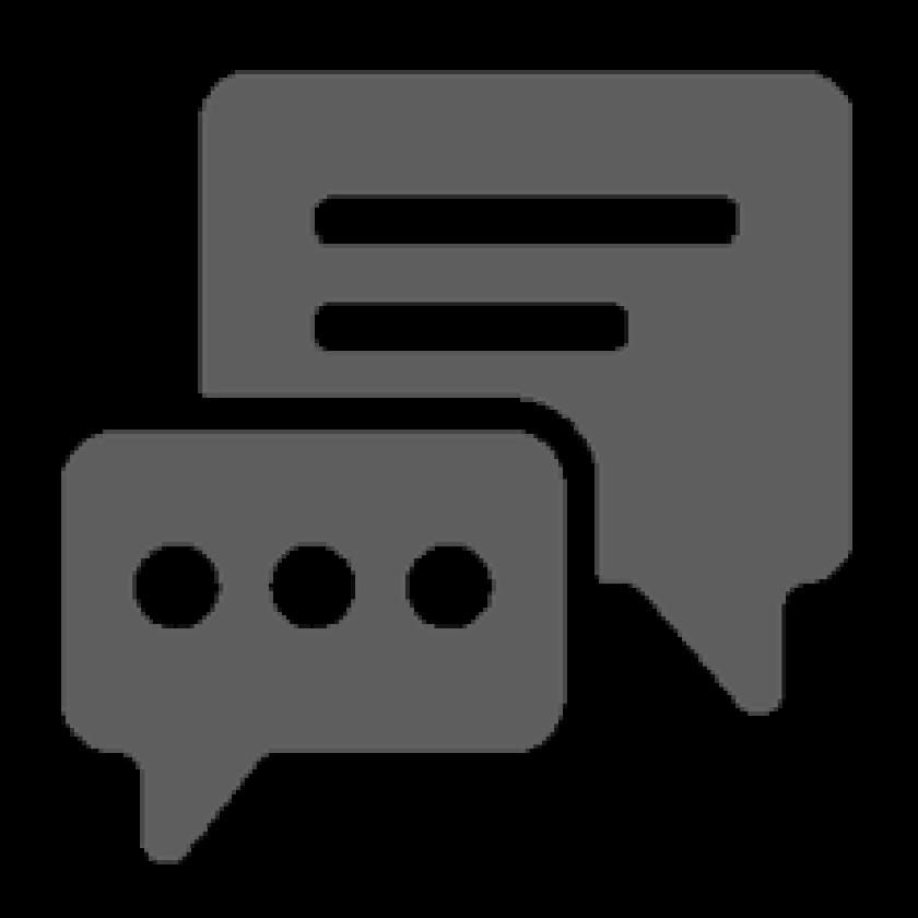 feedback or survey icon - gray