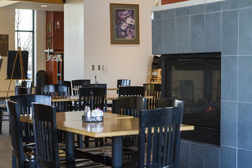 Centennial Park The View Restaurant Inside with Chairs and Dining Tables