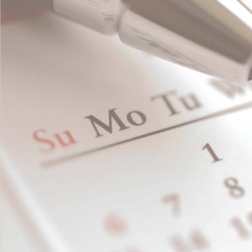 Upcoming Events, Calendar