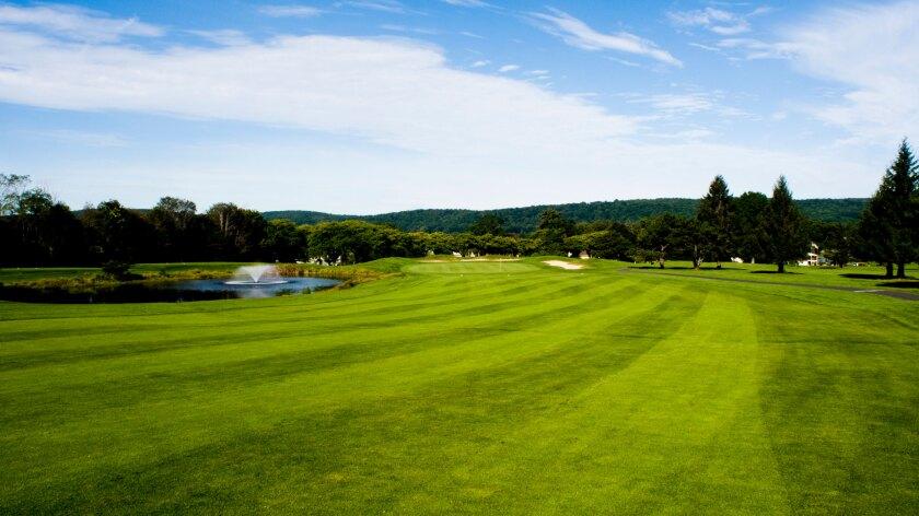Flanders Valley Golf Course, Flanders, New Jersey, Hole 18 Fairway