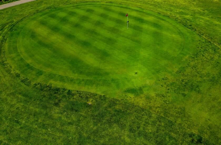Edgebrook Golf Course Overhead Hole Drone Photography