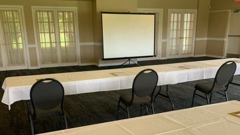 Ed Oliver Golf Club, Wilmington Delaware, Work Space, Presentation, Socially Distanced