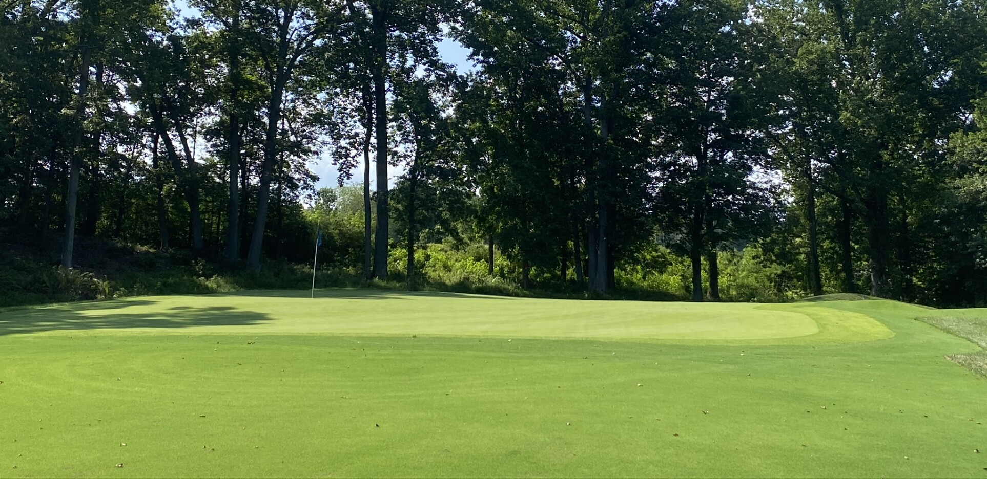 Number 6 green at the Preserve at Eisenhower Golf Course