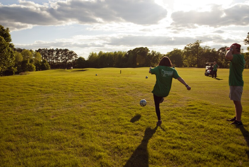 FootGolf player on course