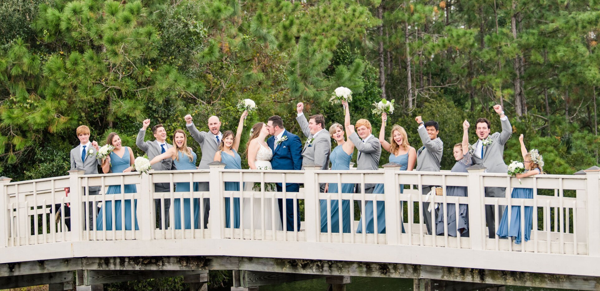 Rudroff Wedding Bridal Party at St Johns golf and country club
