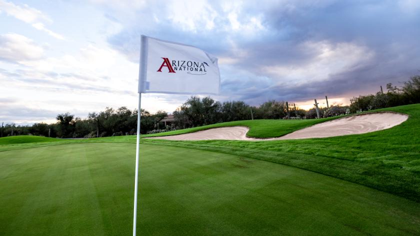 flagstick with logo of Arizona National Golf Club