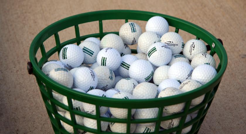 bucket of range balls