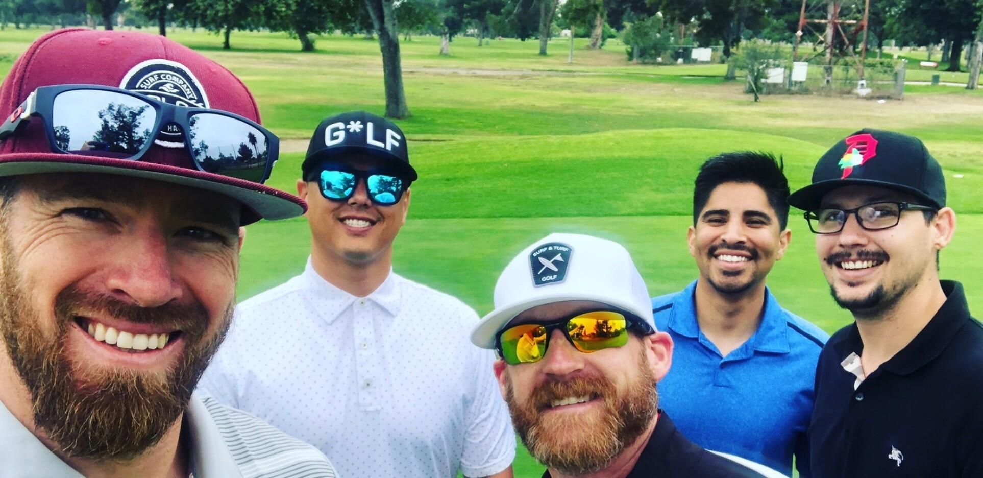 Quick selfie on 18 green.