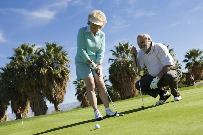Senior Couple on the golf course