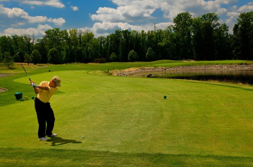 Hole 7 at Hyatt Hills Golf Complex