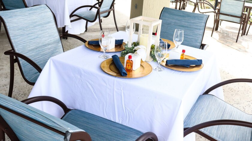 table setting at the bridge