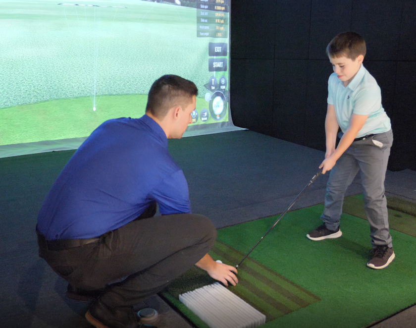 ZSTRICT simulator golf lesson