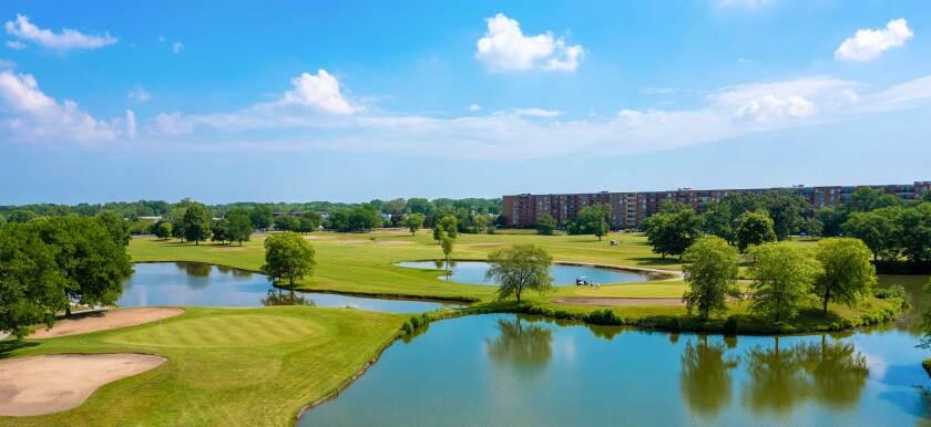 River Oaks Golf Course Overhead Drone Photography
