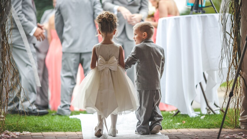 flower girl and ring bearer at Orchard Valley Golf Course Wedding