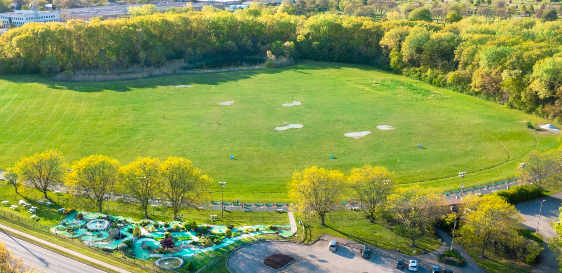 Harry Semrow Driving Range and Mini Golf Course Overhead Drone Photography