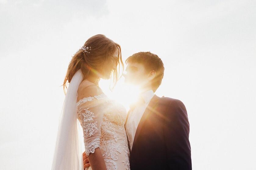 Bride Groom Sunlight
