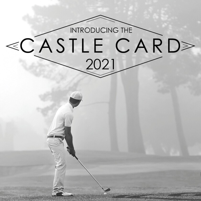 2021 Castle Card from Delcastle Golf Course