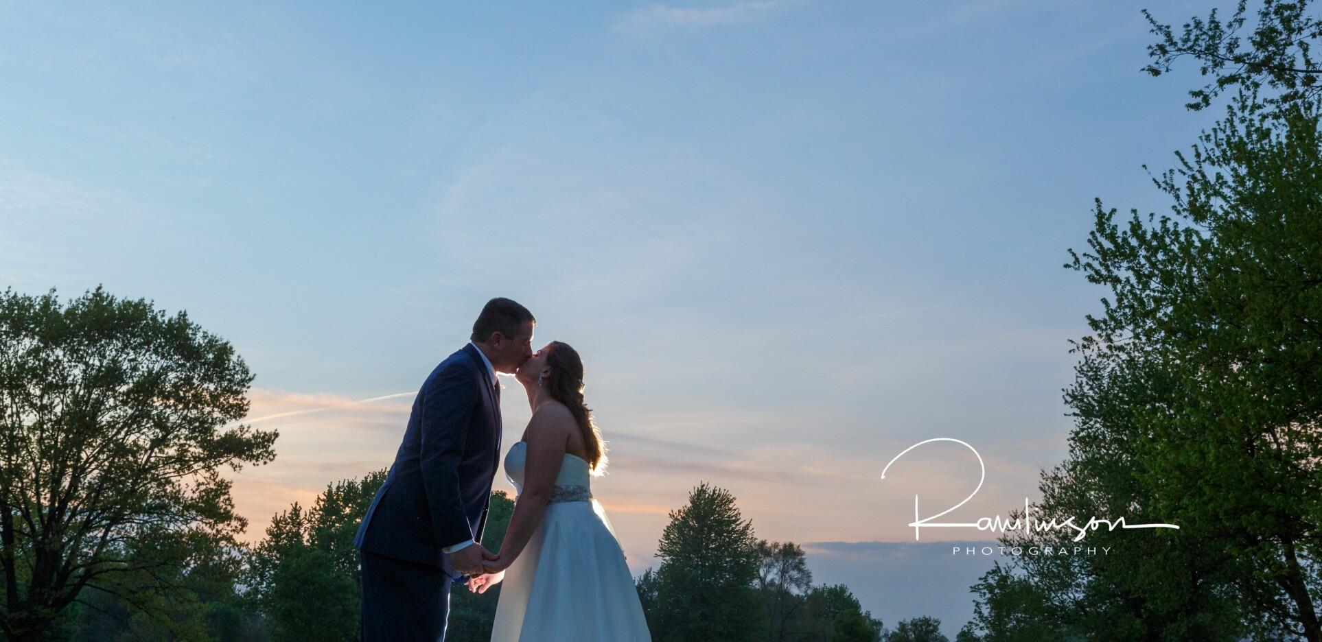 bride and groom on wedding day at Fellows Creek Golf Club
