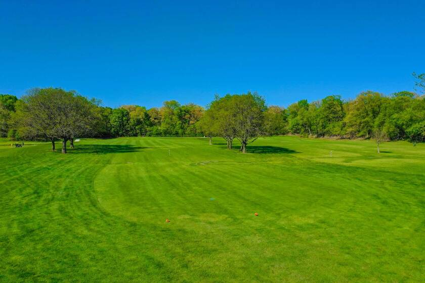 Edgebrook Golf Course Drone Photography Sideview of Hole