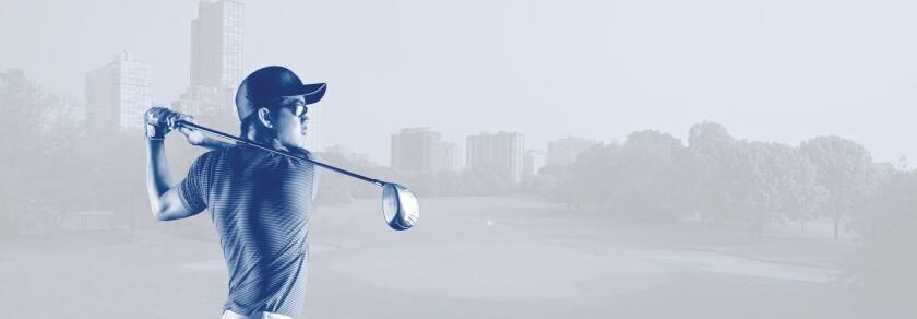 CPD Tournament - Man Swinging Golf Club