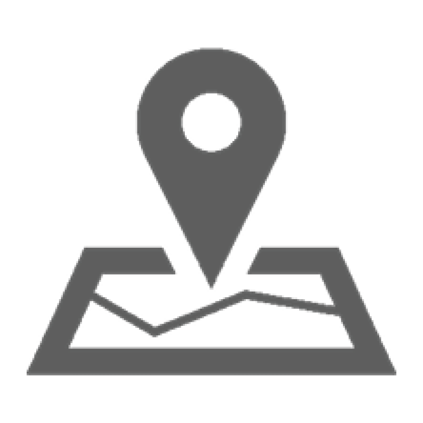 google maps address or directions icon - gray