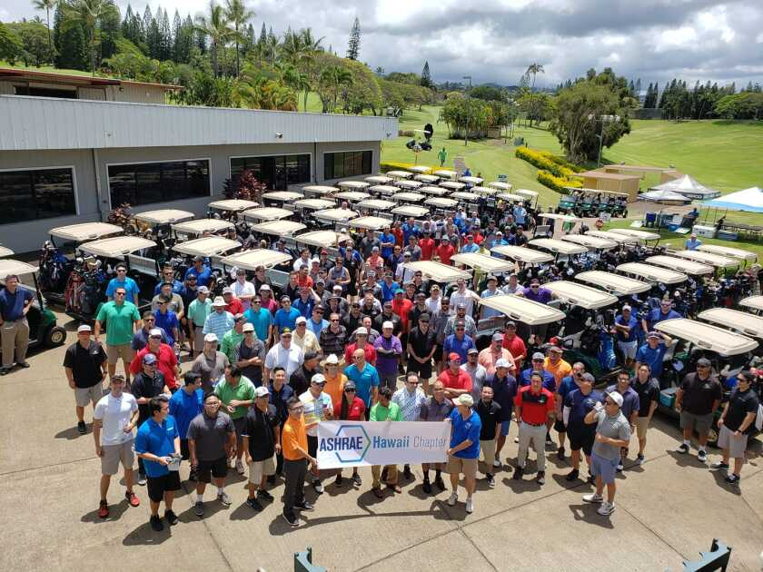 golfers at outing event at Pearl Country Club