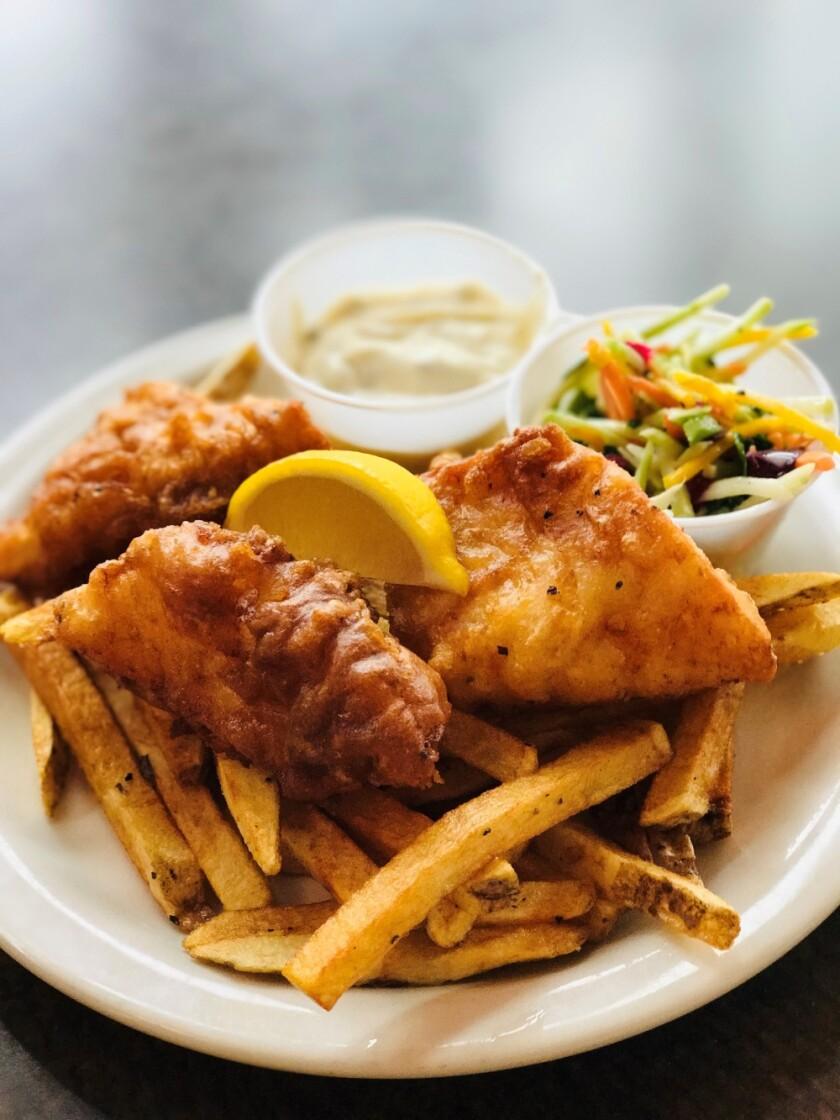 fish fry dish at restaurant