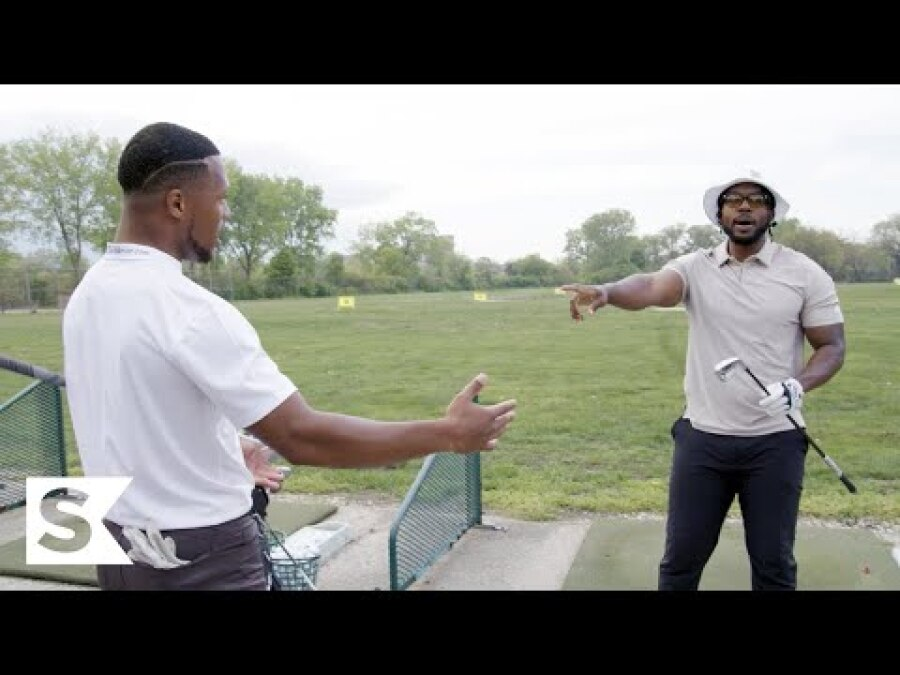 """Strong Flex from """"Mr. Smooth"""" at Chicago's Classic Driving Range 
