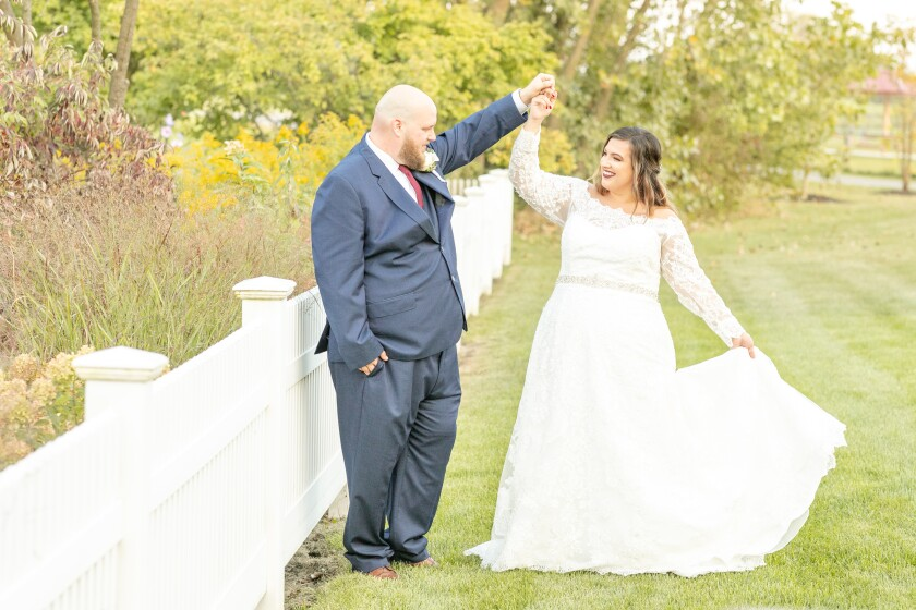 Wedding at Centennial Park in Munster, Indiana
