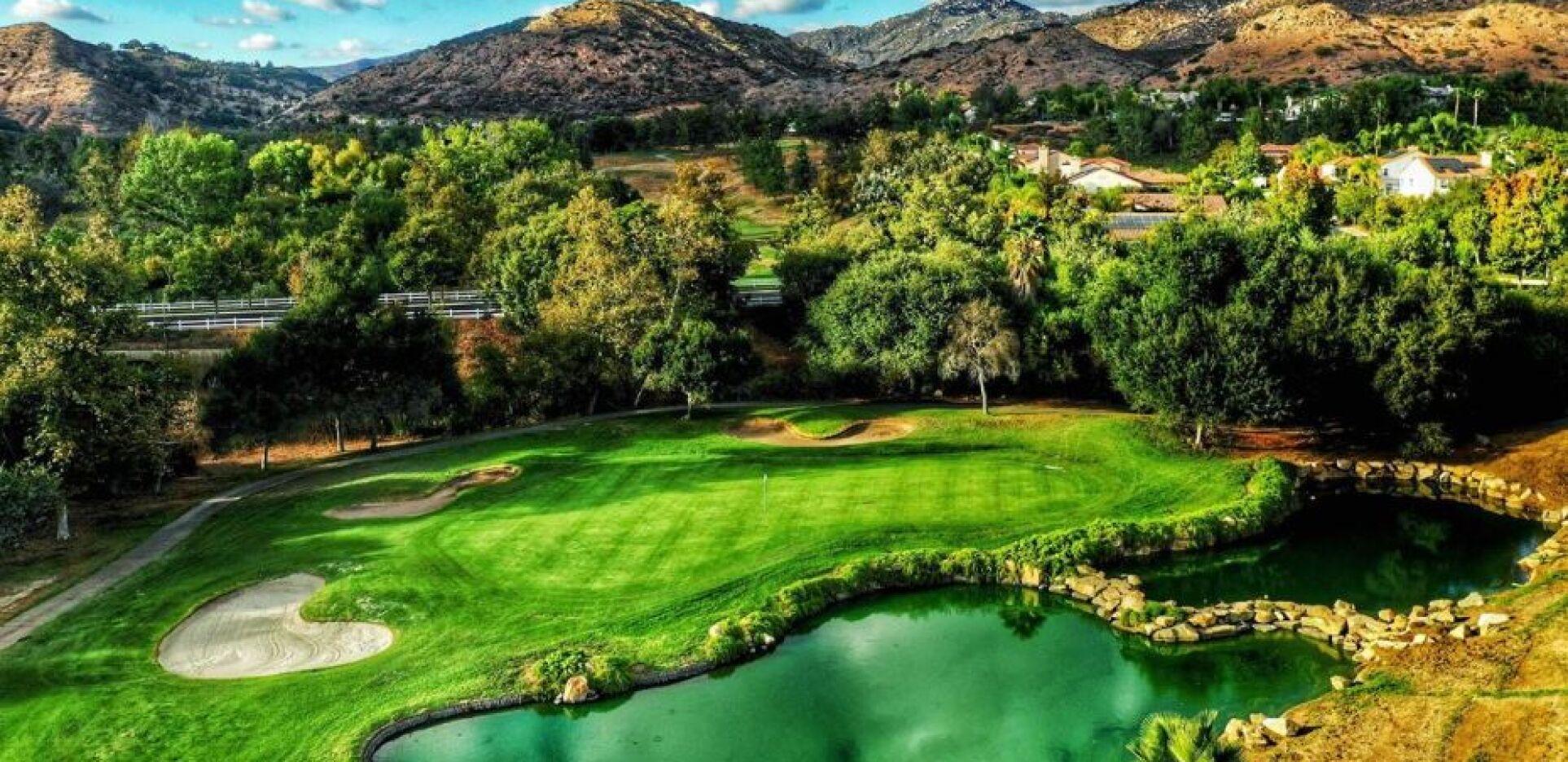 Eagle Crest Golf Club Hole 18  in Escondido, California