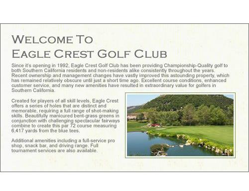Eagle Crest Golf Club hole description