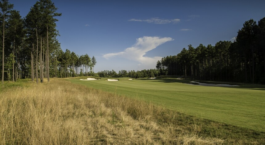 Magnolia Green Golf Club, Hole 9, Approach, Richmond Area Golf Course