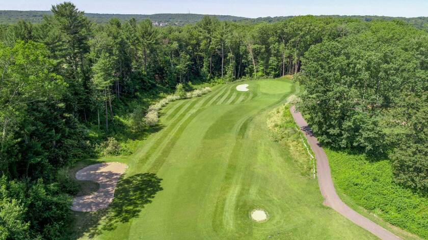 The Windham Club, North Windham Connecticut, Hole 17 Aerial View