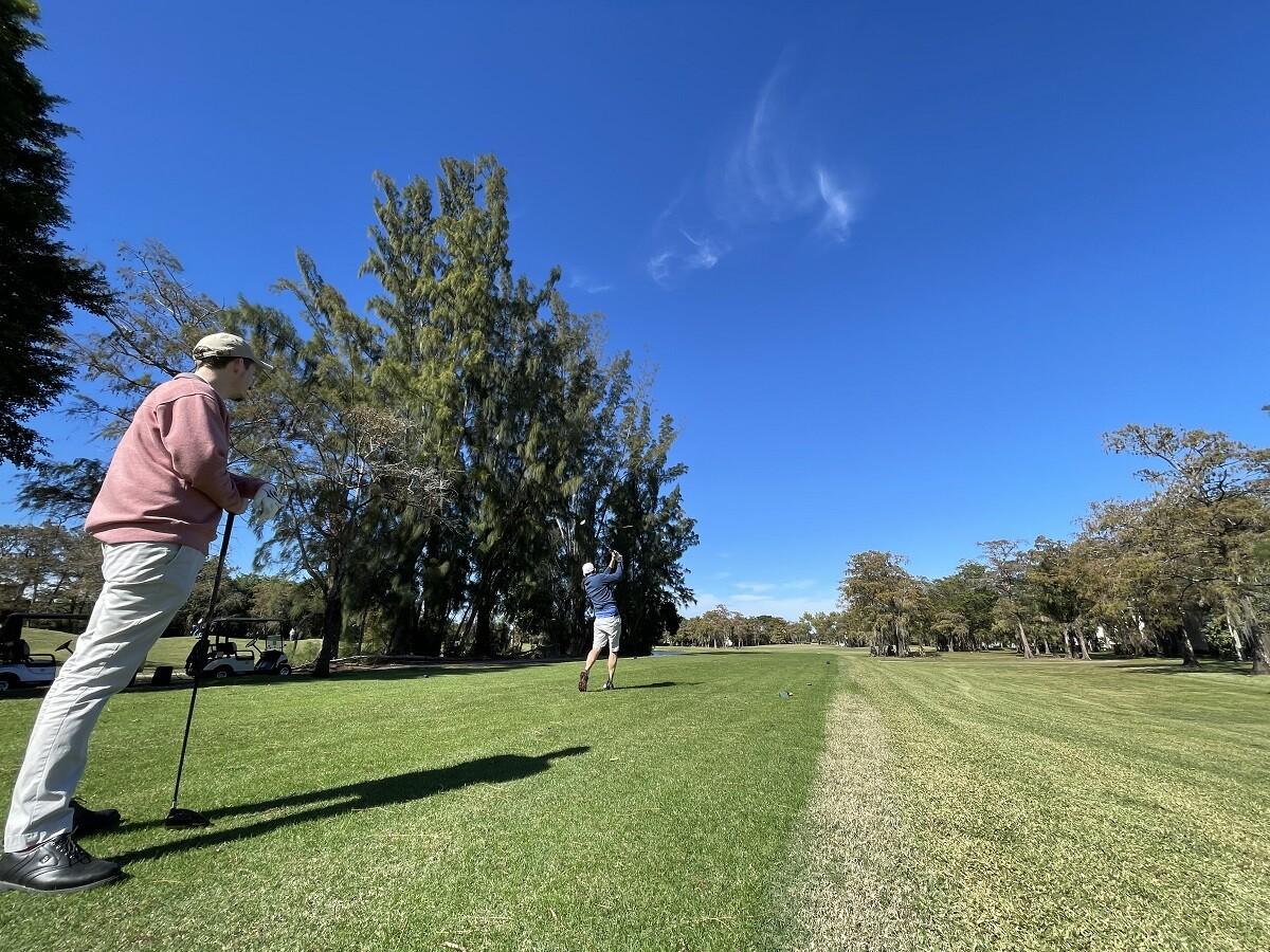 golfers on course at Colony West Golf Club in Tamarac, Florida