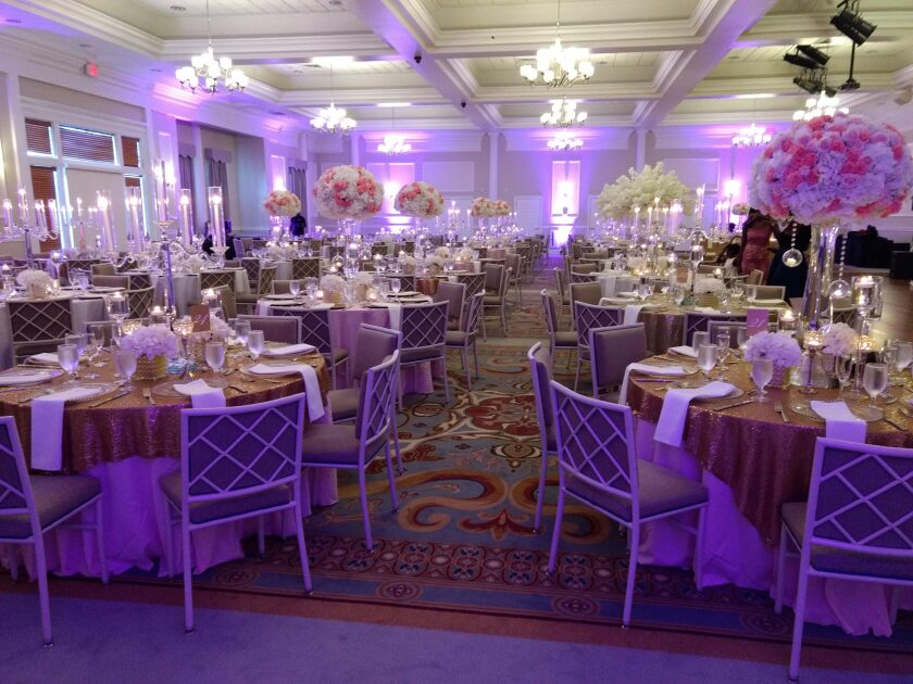 Banquet and event space and set up at Colonial Heritage
