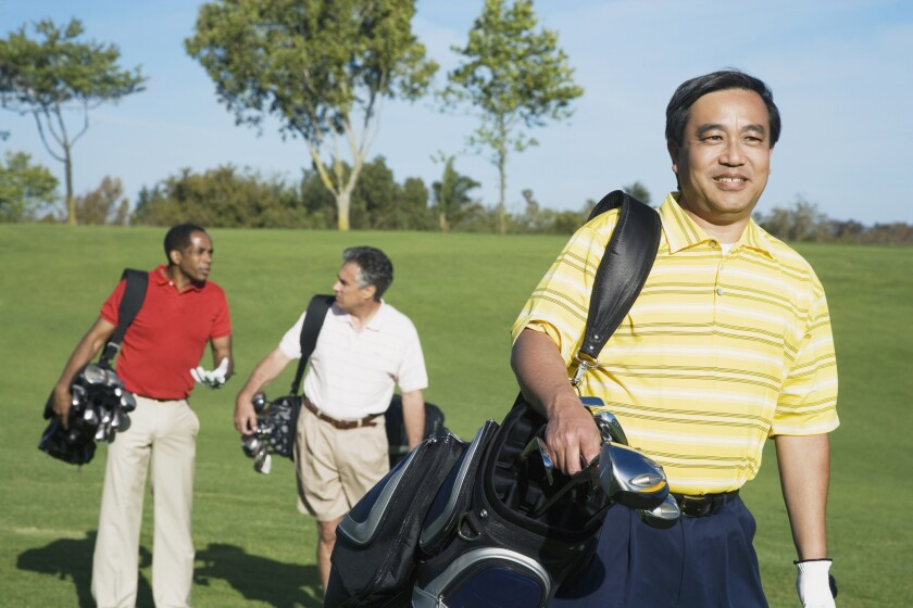group of men on golf course