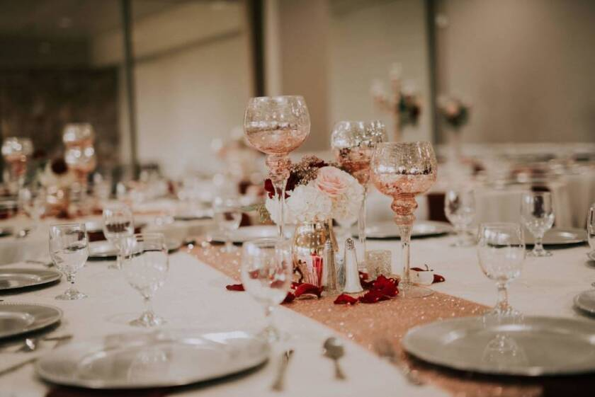 wedding or banquet table setting