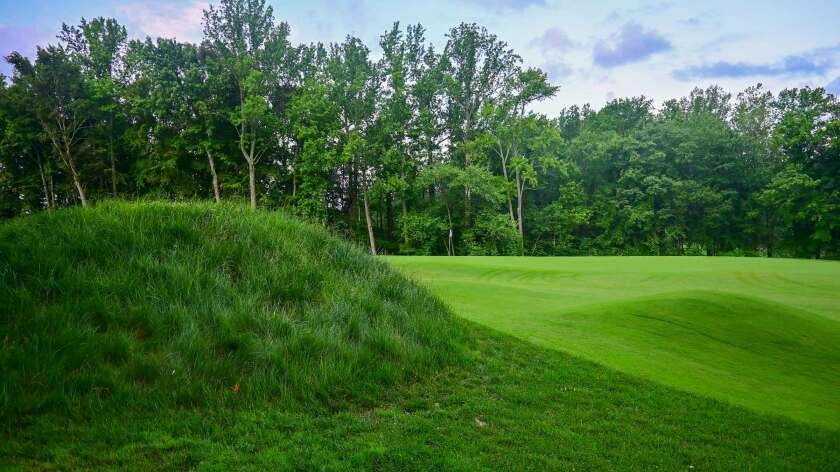The first hole on the beautiful new Preserve at Eisenhower Golf Course