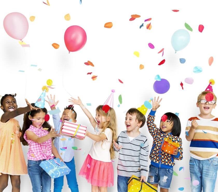 kids celebrating at birthday party