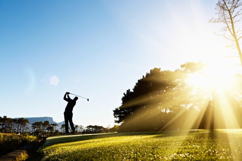 Single Male Golfer