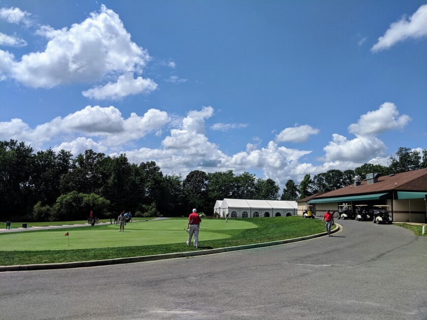 Compass Pointe Golf Courses clubhouse and range