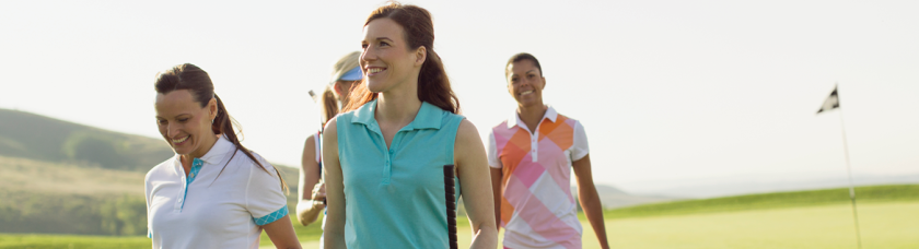 Women on the golf course