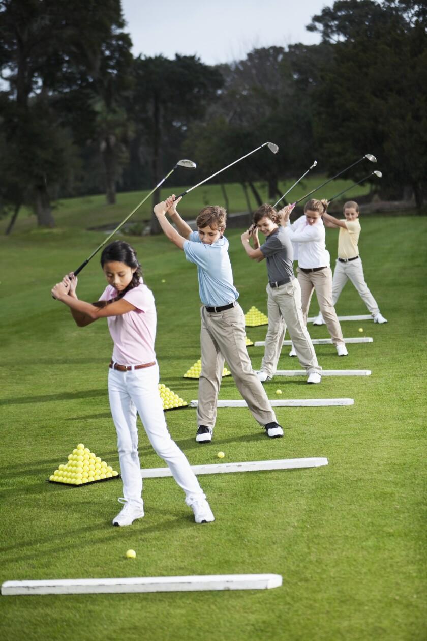 golf range at practice facility