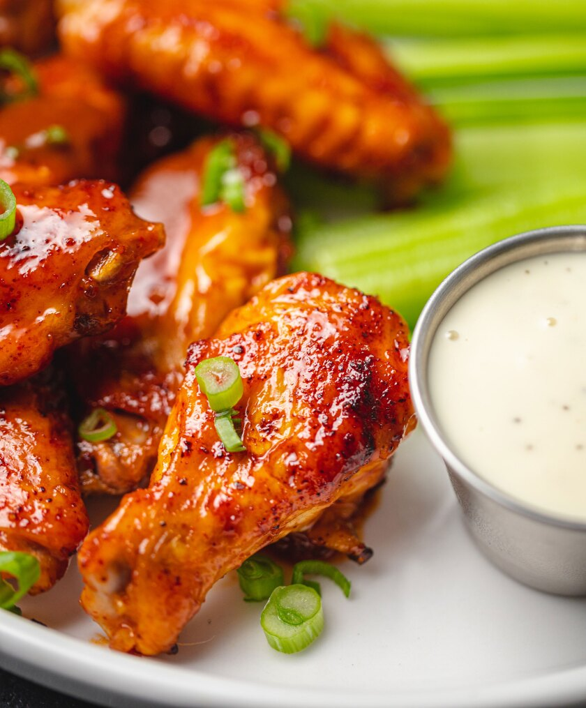 Chicken Wings with Celery and Ranch